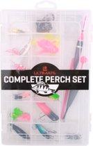Ultimate Perch Set met hardbaits, softbaits, spinners en meer - 22-delig - inclusief tacklebox