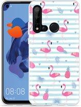 P20 Lite 2019 Hoesje Flamingo Ananas