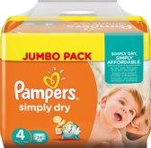 Pampers Simply Dry maat 4 222 stuks