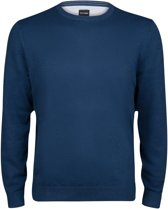 OLYMP heren trui katoen - O-hals - jeans blauw -  Maat M