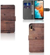 Huawei Y6 (2019) Book Style Case Old Wood
