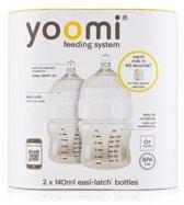 Fles met speen fase 1 Yoomi: 140 ml 2-pack