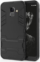 Samsung Galaxy A6 Hybride Stand Hoesje Zwart