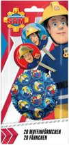 Brandweerman Sam cupcake vormpjes en prikkertjes