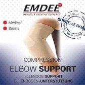 EMDEE elastische steun elleboog L huidskleur