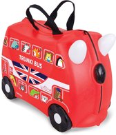 Trunki Ride-On Londos Bus Kinderkoffer - 46 cm - Rood met Stickerset