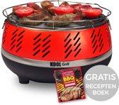 Kool Grill Houtskool Barbecue - Rood