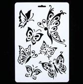 1 Stuk Sjabloon Vlinders | Sjabloon Butterfly