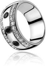 ZINZI zilveren ring zwart ZIR550Z