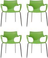 24Designs Set 4 Stoelen Jim - Armleuningen - Groen
