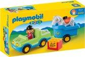 Playmobil 123 Wagen met paardentrailer - 6958