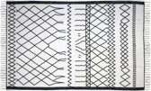 HSM Collection Vloerkleed - katoen - 230x160 cm - zwart/wit