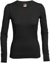 Icebreaker BF200 Oasis LS Crewe - dames - thermoshirt - zwart - maat XL