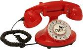 retro telefoon draaischijf Funkyfon rood