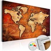 Afbeelding op kurk - Amber World , wereldkaart