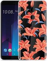 HTC U11 Plus Hoesje Flowers