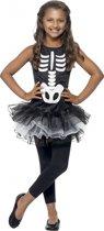 Skelet kostuum voor meiden 130-143 (7-9 jaar)