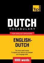 Omslag van 'Dutch vocabulary for English speakers - 9000 words'