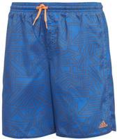 df8e99e56e2 Adidas - Graphic Zwemshort - Zwembroek - Jongens - Blauw/Oranje