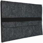 Shop4 - MacBook 11 inch Air Hoes - Sleeve Wolvilt Donker Grijs