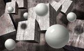 Fotobehang 3D, Modern | Grijs | 416x254