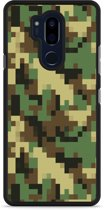 LG G7 Hardcase Hoesje Pixel Camouflage Green