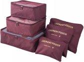 Miss Lulu Packing Cubes - 6 stuks - Koffer Organiser - Grijs - Je koffer georganiseerd ingepakt (E6874 BY)