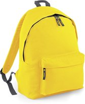 BagBase Backpack Rugzak - 18 l - Yellow/Graphite