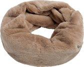 Faux fur col sjaal Furry Loop Beige Tube shawl col sjaal Nep bont