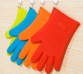 Facile® Siliconen ovenwant (2 stuks) | Hittebestendig | Extra Grip & Hygiene | Vaatwasserbestendig | Levenslang Garantie | Rood | Blauw | Oranje | Groen