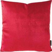 Velvet Red Kussenhoes | Fluweel - Polyester | 45 x 45 cm | Rood