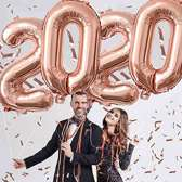 2020 ballon rosegoud 81cm folieballon Nieuwjaar