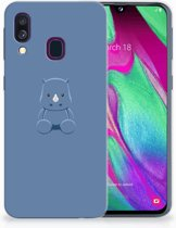 Samsung Galaxy A40 TPU-siliconen Hoesje Baby Rhino