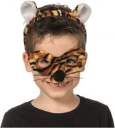 Tijger masker en tiara voor kinderen
