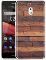 Nokia 2.1 Hoesje Houten planken
