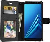 Samsung Galaxy J3 2018 portemonnee hoesje - Zwart