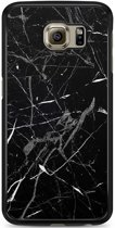 Samsung Galaxy S6 hoesje - Marmer zwart