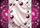 Fotobehang Pink Diamond Abstract Modern | XXL - 312cm x 219cm | 130g/m2 Vlies