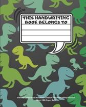 Primary Composition Notebook: Grades K-2 Handwriting Practice Book 100 Pages 8x10