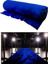 Kobaltblauwe loper 1m breed x 30m lang op rol