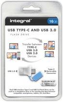 Integral Fusion USB Type-C - USB-stick - 16 GB
