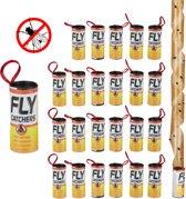 relaxdays vliegenvanger - plakstrip - vliegenstrip - kleefband - 24 stuks - vliegenval