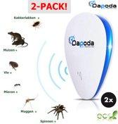 2-PACK! - ONGEDIERTEBESTRIJDING ELEKTRISCH | Ultrasoon | Bestrijd en Verjaagt Muizen - Ratten - Spinnen - Mieren - Kakkerlakken - Muggen - Ongewenst Ongedierte | Pest Repeller | Ultrasonic | Insectenverdelger | Insecten bestrijding
