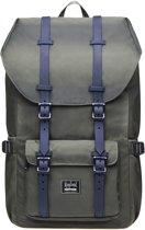 Rayland Rugzak - Legergroen 15 Inch laptopvak - Rugzak laptop - Rugzak voor school - Rugzak heren - Rugzak vrouwen - Travel bag voor school werk reizen camping - A-Kwaliteit
