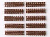 Ministeck 10 x 1 Kleurstrips - donkerbruin