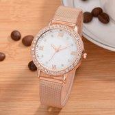 Hidzo Horloge Relogio Feminino ø 37 mm - Rose-Goud - Inclusief horlogedoosje