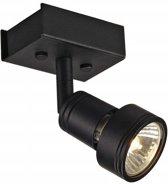 SLV PURI 1 plafondlamp Spotlamp 1x50W Zwart 147360