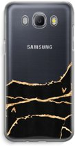 Samsung Galaxy J5 (2016) Transparant Hoesje (Soft) - Gouden marmer