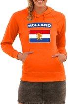 Oranje Holland vlag hoodie dames M (38)