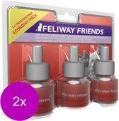Feliway Friends Navulling - Anti stressmiddel - 2 x 3x48 ml